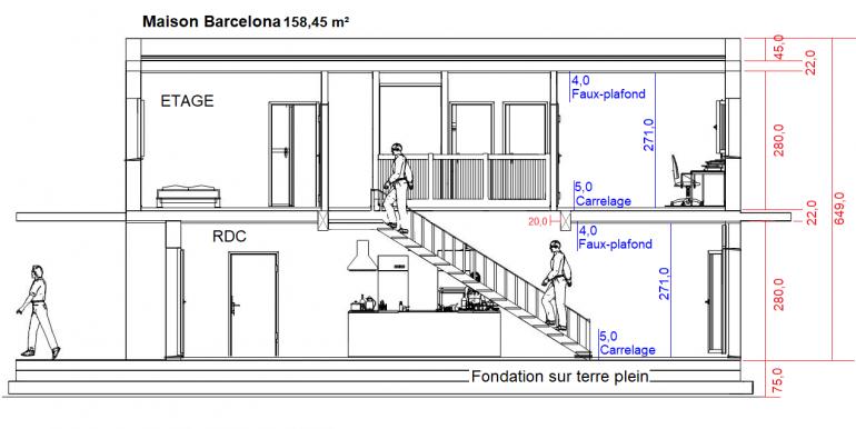 1 Maison Barcelona 158,45 m²