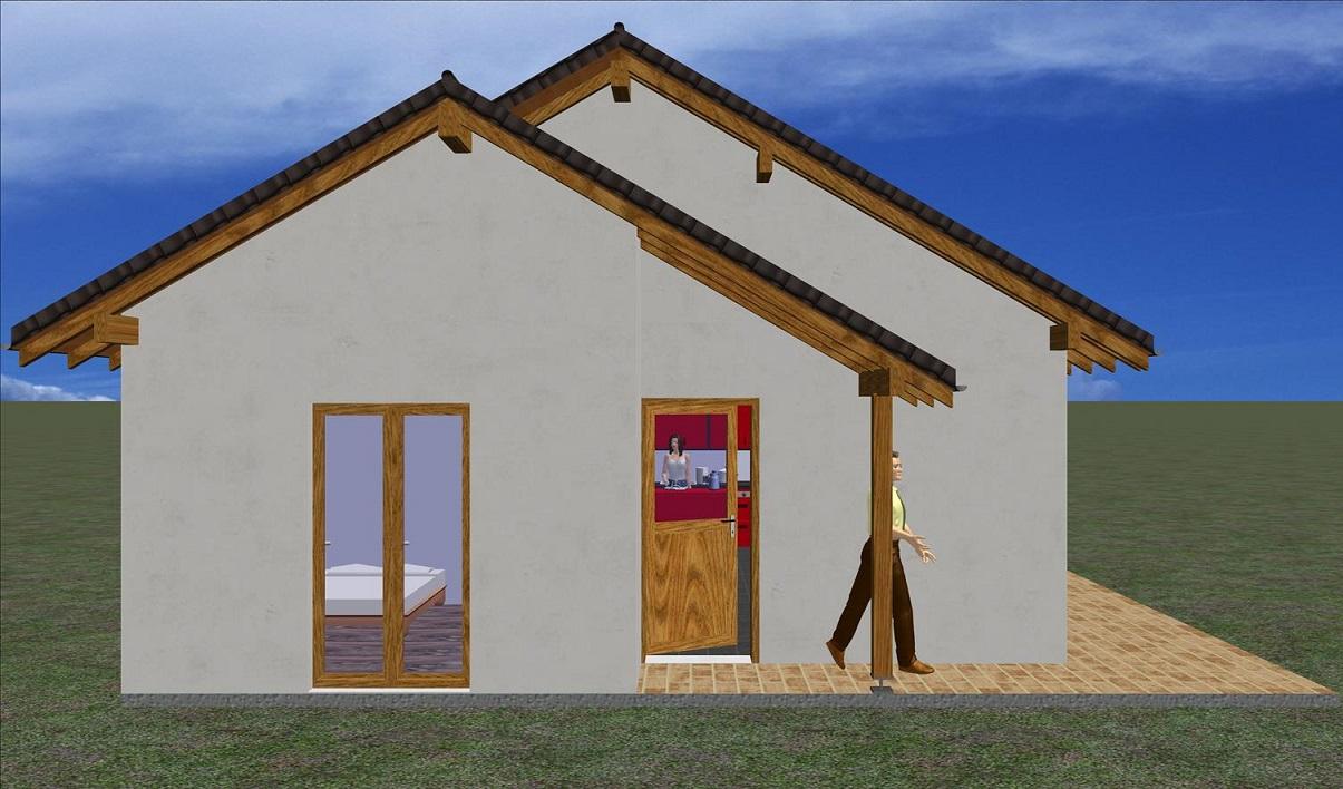 Maison classique 68 48 m prix finition totale for Maison bois classique