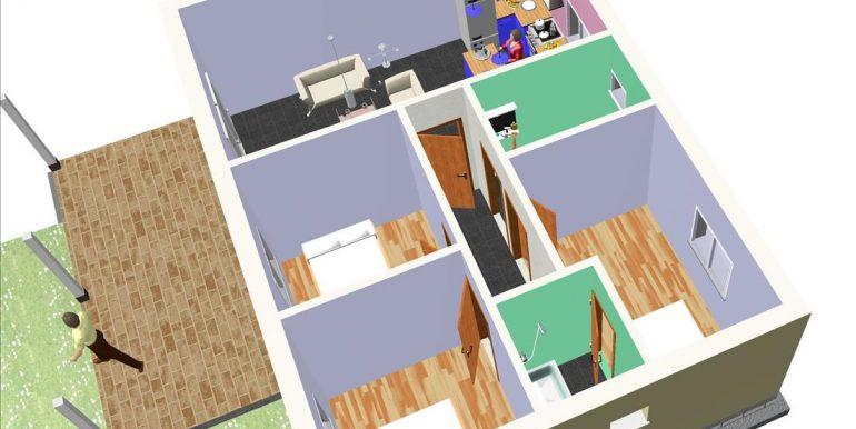 13 Vivienda 87,00 m² - B