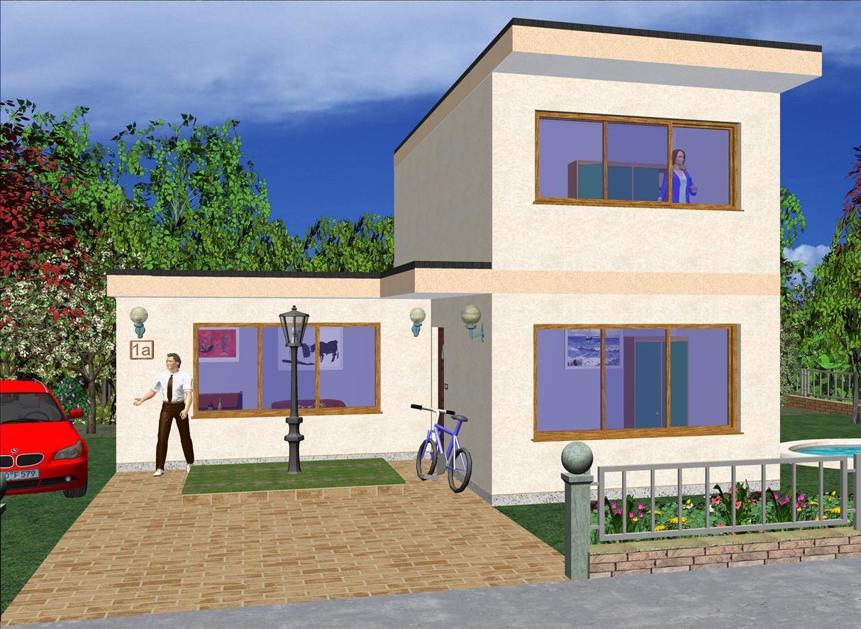Maison moderne contemporaine 91 56 m prix finition totale ttc maison ossature - Prix maison moderne ...