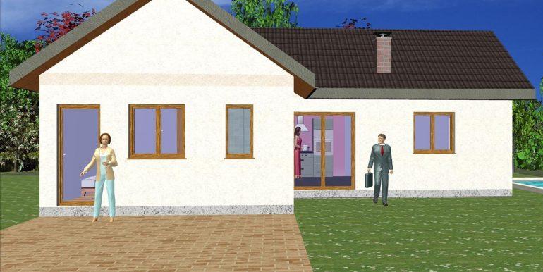 Precio Casa de madera prefabricada ref. 72,16 m²