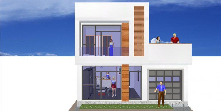 3, Maison moderne toit plat prix-