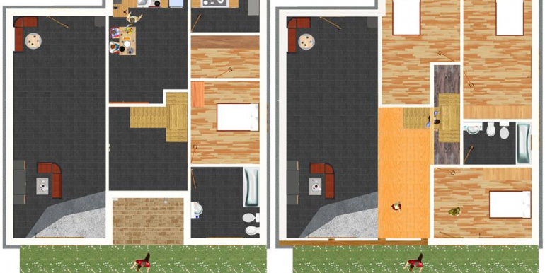 3 planta baja y primera 2D