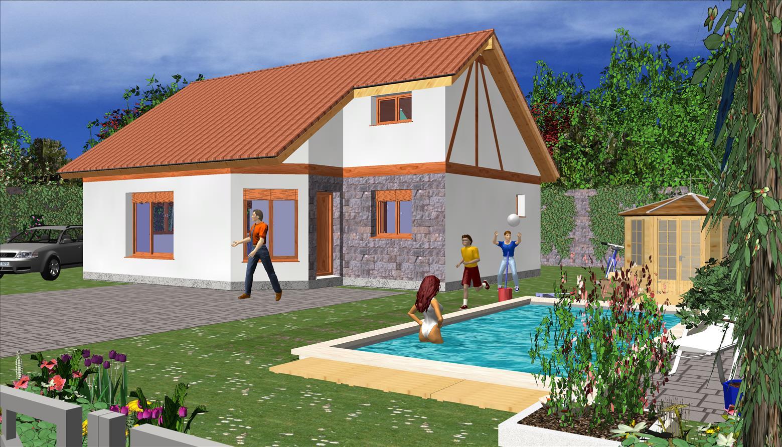 Maison classique 118,40 m² B – Prix Nous Consulter – Conforme à la RT 2020 –