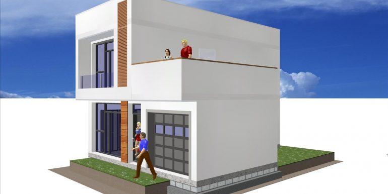 4,Maison moderne toit plat prix 122,22 -