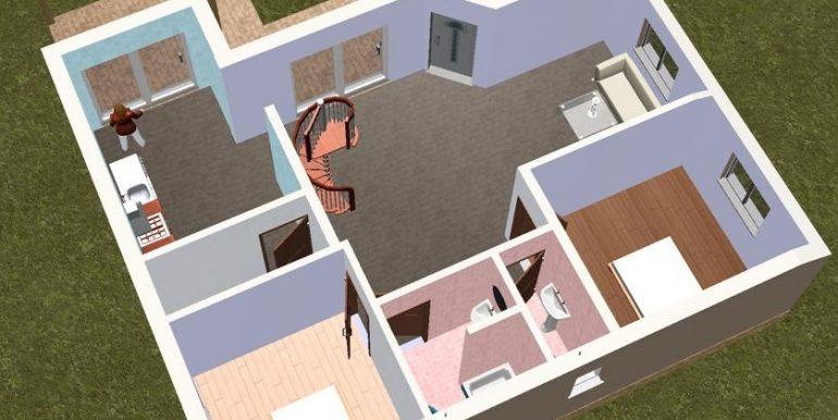 5 Planta baja 3D - Vivienda Artaxet 125,3
