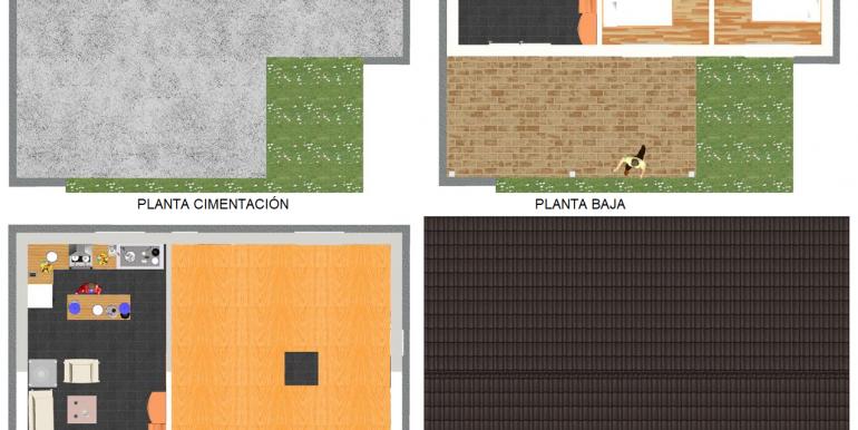 5, plantas, Vivienda 87,00 m² - B - copia