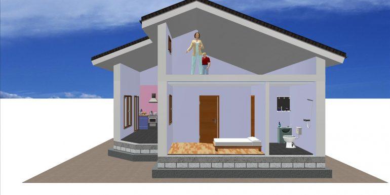 6, maisons avec combles 79,79 m² B