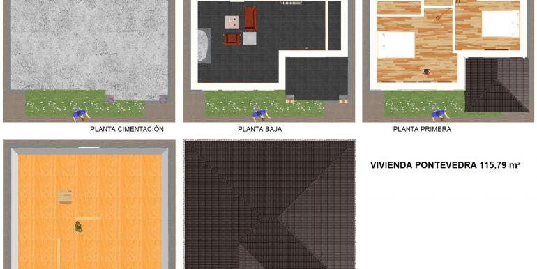 7 plans 2d Maison ossature bois 115,79