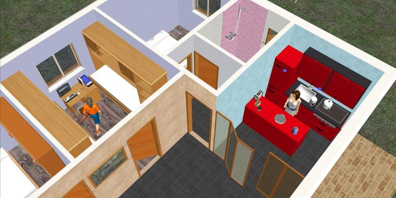 Casa de madera prefabricada Asturias 73,67 m²