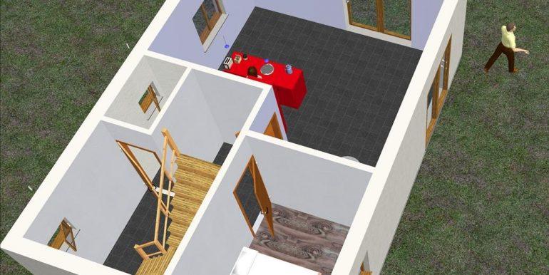 Casa de madera prefabricada moderna 105,81 m²