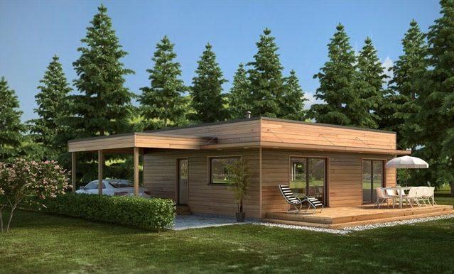 Casa prefabricada moderna 96,00 m²