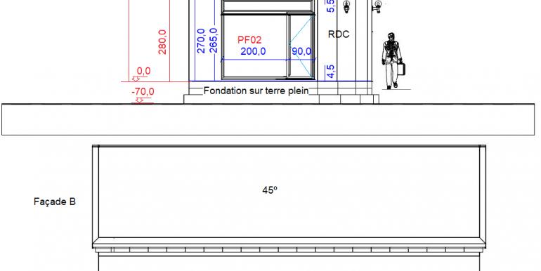 COUPE Maison 158,45 B, A, B
