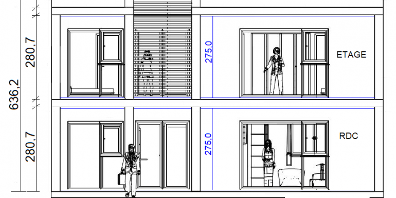 COUPE Modele de maison moderne