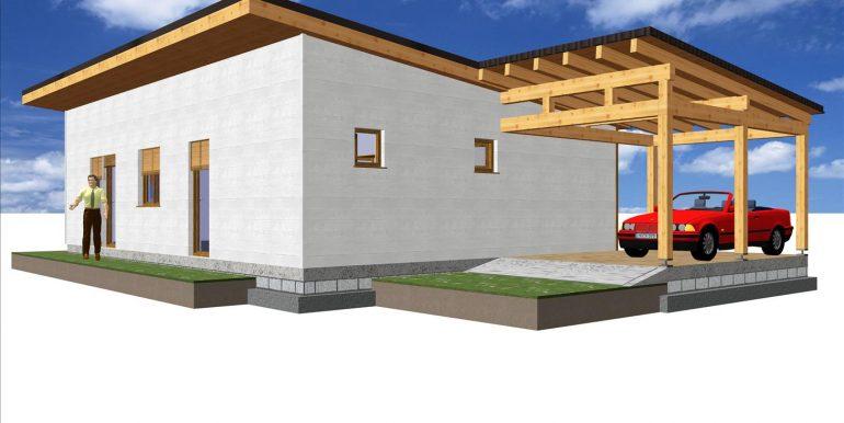 Hacer casa prefabricada madera 111,90 m²