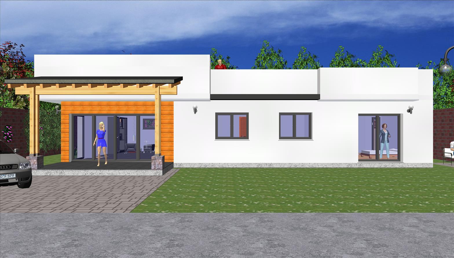 Maison moderne toit plat 146,74 m² avec toit-terrasse Prix Nous Consulter – Conforme à la RT 2020 –