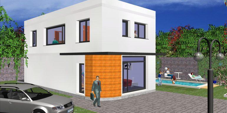 Maison ossature bois, Barcelona 158,45 m²,
