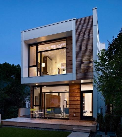 maisons ossature bois modernes