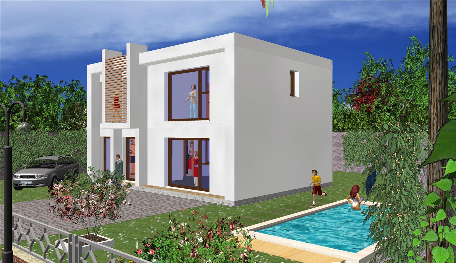 modele maison moderne en ossature bois prix maisons de. Black Bedroom Furniture Sets. Home Design Ideas