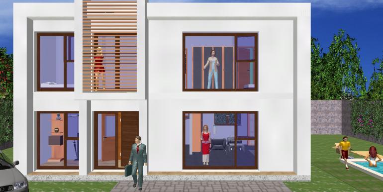 Modele de maison moderne 172,85