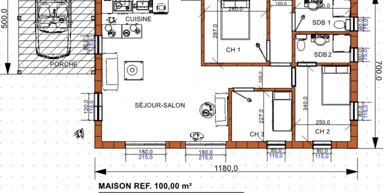 PLAN maison 100 00 -