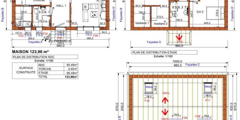 PLANS Maison mansardée 123, 96