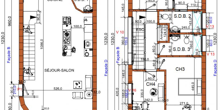 PLANS maison moderne 1458,45 RT 2020