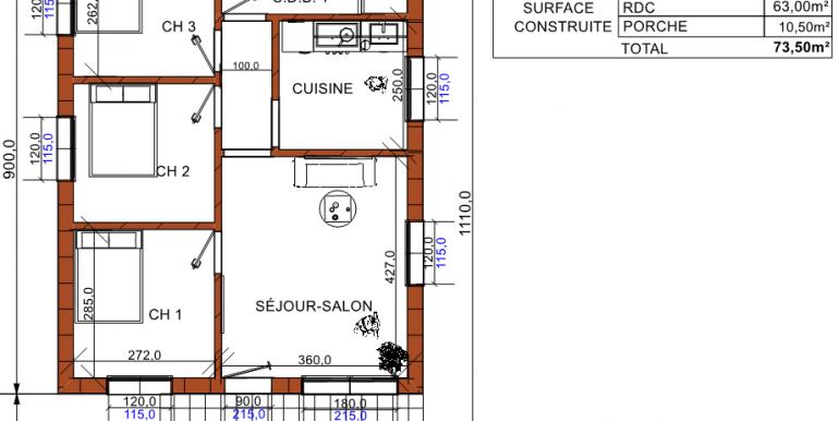 Plan maison 73 50