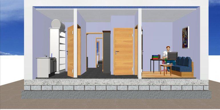 Secion - Vivienda 140 m2 B