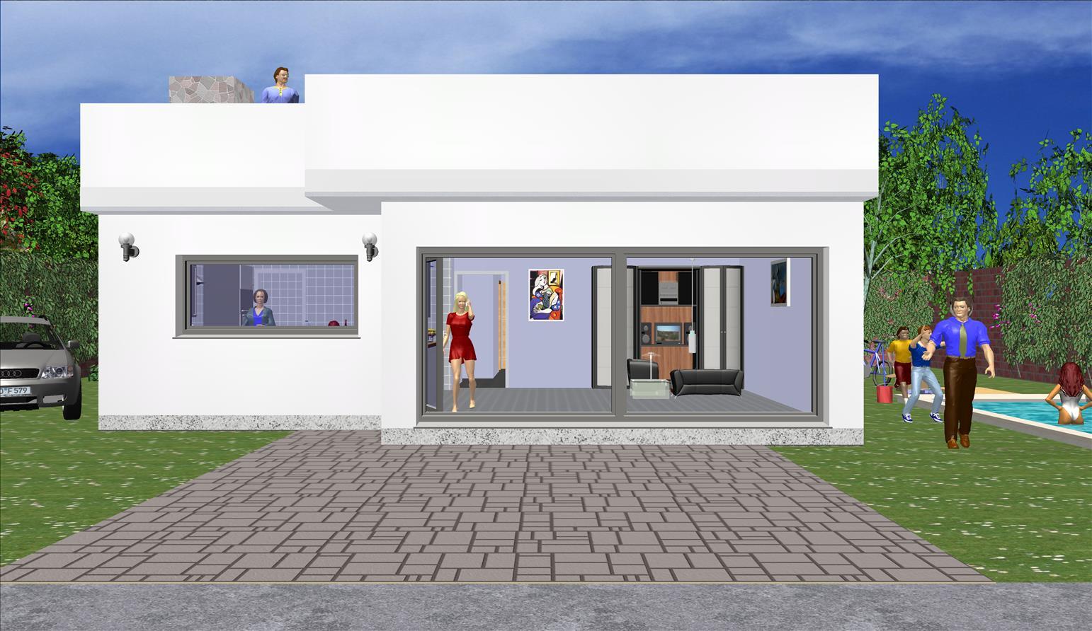 Maison moderne 147,18m² Prix 154,301,26 € TTC Conforme À La RT 2020 Toiture terrasse Gratuit!!