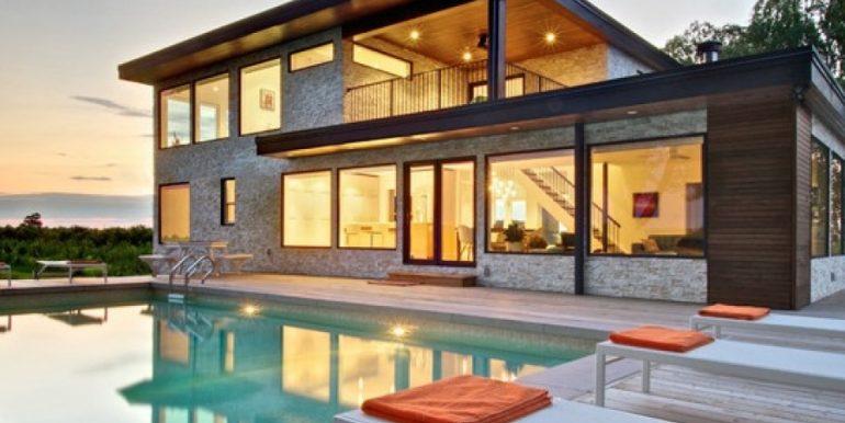 Casa prefabricada moderna casa pasiva de madera y cemento