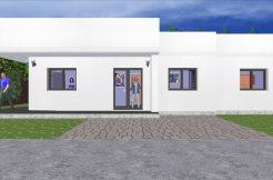 Maison moderne garage contemporaine à toit plat en ossature bois