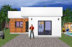 Maison ossature bois minimaliste de 95,67 m2 construction ossature bois