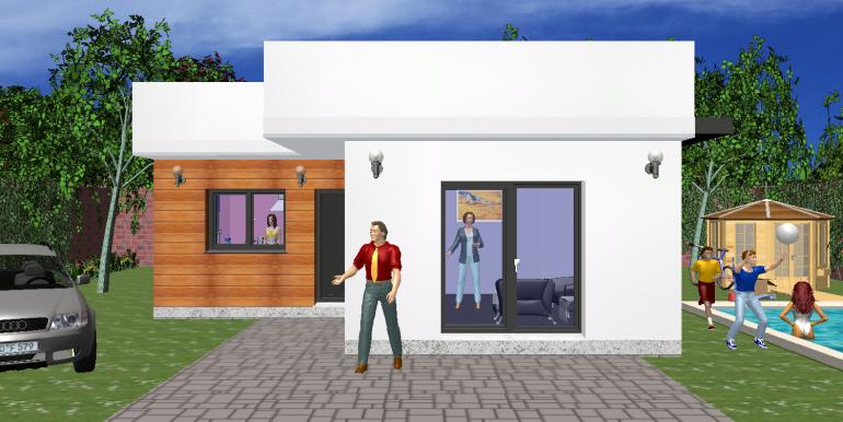 maison ossature bois minimaliste