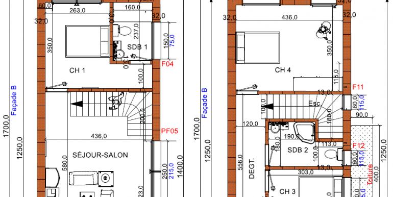 plan COUPES maison 170 construction maisons