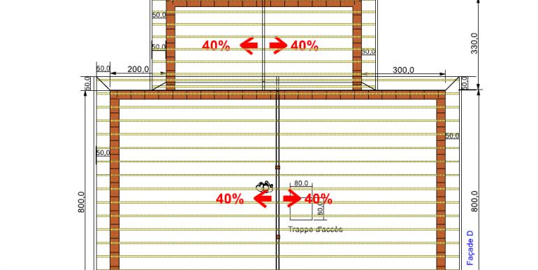 plan COUVERTURE, Maison 119,10 m2