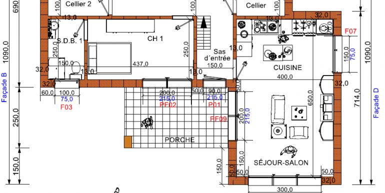 plan RDC Maison 107,35