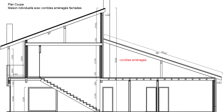 plan coupes Maison individuelle