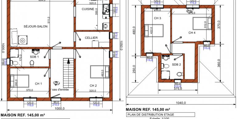 plan maison 145