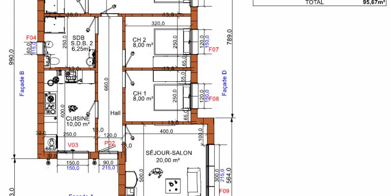 plan maison ossature bois minimaliste