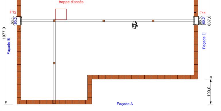 plan mansarde maison 133, 24 -