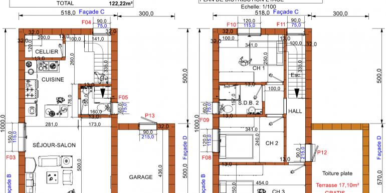 plans Maison moderne toit plat prix
