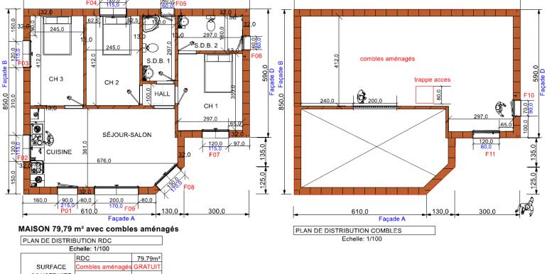 plans maisons avec combles 79,79