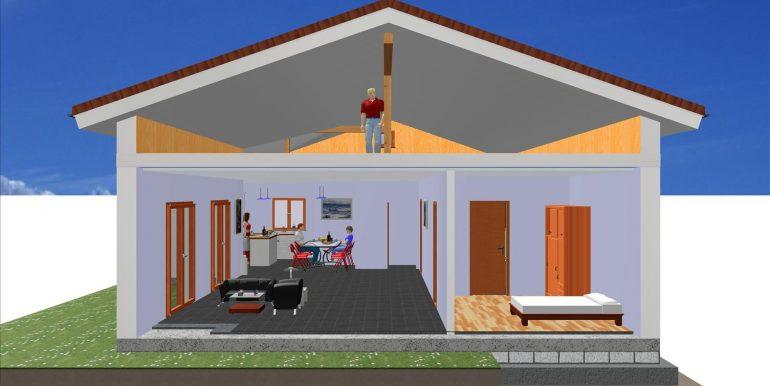 vente maison bois 133,24 -